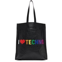 Balenciaga Black 'I Love Techno' Tote