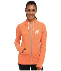 Nike Gym Vintage Full Zip Hoodie Electro Orange Sail Women's Sweatshirt