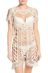 Women's For Love And Lemons 'Barcelona' Crochet Cover Up