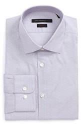 John Varvatos Men's Star Usa Slim Fit Stripe Dot Dress Shirt Thistle