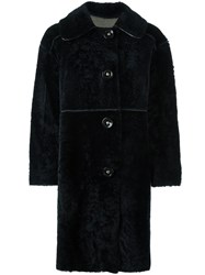 Sylvie Schimmel Shearling Coat Black