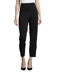 T Tahari High Rise Straight Pants Black