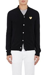 Comme Des Garcons Play Men's Heart Patch Wool Cardigan Black
