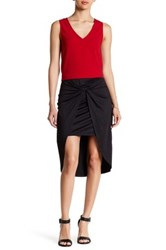 Kensie Wrap And Knotted Skirt Black