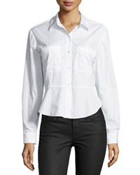 Theory Aliza Sartorial Flared Blouse Women's White