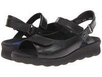 Wolky Pichu Black Leather Women's Sandals