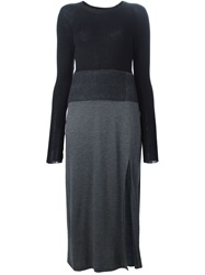 Neil Barrett Colour Block Sweater Dress Black