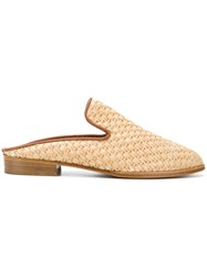 Robert Clergerie Woven Mules Brown