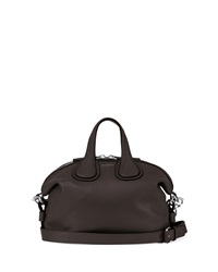 Givenchy Nightingale Small Waxy Leather Satchel Bag Black