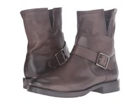 Frye Natalie Short Engineer Charcoal Washed Vintage Women's Boots Black