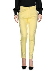 Maison Espin Casual Pants Yellow