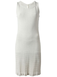 Alaia Vintage Knitted Sleeveless Dress Grey