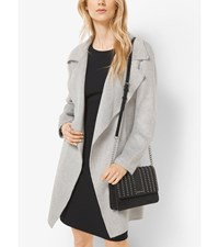 Belted Double Face Wool Wrap Coat