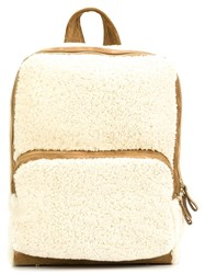 Pierre Hardy Zipped Fur Backpack White