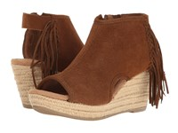 Minnetonka Blaire Dusty Brown Suede Women's Wedge Shoes