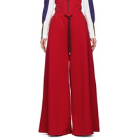 Marni Red Oversized Trousers