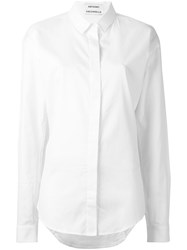 Anthony Vaccarello Classic Button Down Shirt White