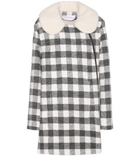 See By Chloe Wool And Alpaca Blend Coat Grey