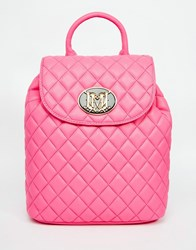 Love Moschino Quilted Backpack Pink