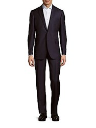 Ermenegildo Zegna Micro Striped Wool Blend Suit Black