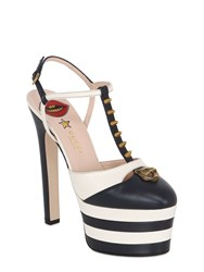 Gucci 160Mm Angel Leather T Bar Sandals
