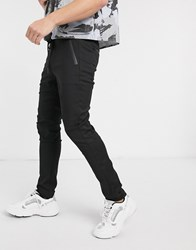 Replay Tapered Fit Draw String Trousers In Black