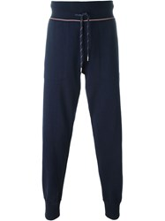 Moncler Fine Knit Sweat Pants Blue