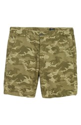 Ag Jeans Wanderer Slim Fit Cotton And Linen Shorts Camo Dry Cypress