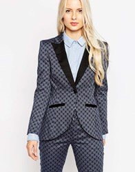 Closet Blazer With Contrast Lapels Blue
