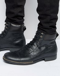 Bellfield Sigmar Leather Laceup Boots Black
