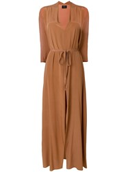 Lost And Found Ria Dunn Cut Out Sleeves Dress Brown