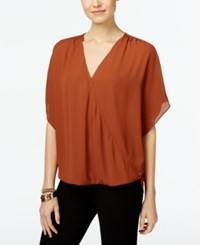 Inc International Concepts Surplice Top Only At Macy's Rawhide