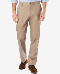 Dockers Men's Big And Tall Signature Classic Fit Khaki Flat Front Stretch Pants Timberwolf