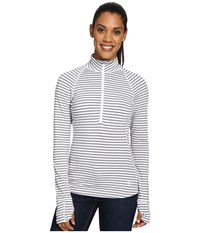 Mountain Hardwear Butterlicious Stripe Long Sleeve 1 2 Zip Steam Women's Long Sleeve Pullover Gray
