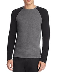 Theory Savaro Cotton Color Block Sweater 100 Bloomingdale's Exclusive Heather Grey Black