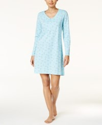 Charter Club Printed Knit Sleepshirt Only At Macy's Dragonfly Floral