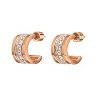 Folli Follie Touch Rose Gold Mini Hoop Earrings