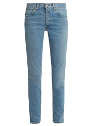Re Done Originals High Rise Straight Skinny Leg Jeans Denim