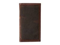 Ariat Shield Contrast Stitch Rodeo Wallet Brown Rowdy Wallet Handbags Gray
