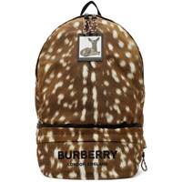 Burberry Brown Convertible Deer Print Backpack