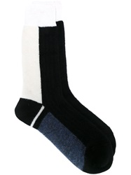Haider Ackermann Colour Block Socks Black