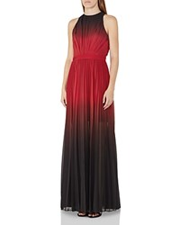 Reiss Hawk Ombre Pleated Gown Multi Red