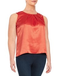 Nipon Boutique Plus Pleated Satin Shell Valencia Orange