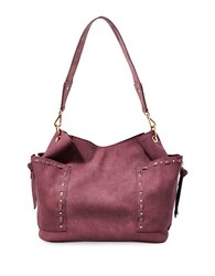 Steve Madden Kailyn Faux Leather Satchel Berry