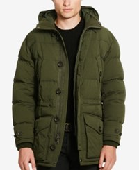 Polo Ralph Lauren Men's Twill Down Parka Corduroy Green