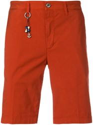 Re Hash Mid Rise Bermuda Shorts Yellow And Orange