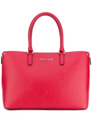 Armani Jeans Shopper Tote Bag Women Polyester Polyurethane One Size Red