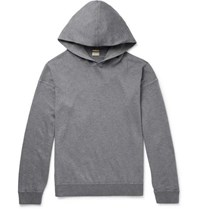 Massimo Alba Cotton And Cashmere Blend Hoodie Anthracite