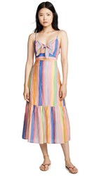 Endless Rose Front Tie Maxi Dress Multi