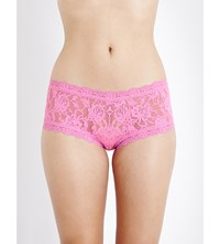 Hanky Panky Signature Stretch Lace Boyshort Briefs Enchanted Rose